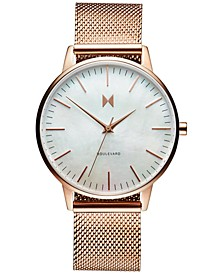 Women's Boulevard Sunset Rose Gold-Tone Stainless Steel Mesh Bracelet Watch 38mm
