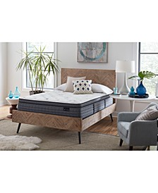 "Luxury Willow 13.5"" Plush Euro Top Mattress Set- Queen"