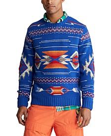 폴로 랄프로렌 스웨터 Polo Ralph Lauren Mens Southwestern Wool Sweater,Royal Multi
