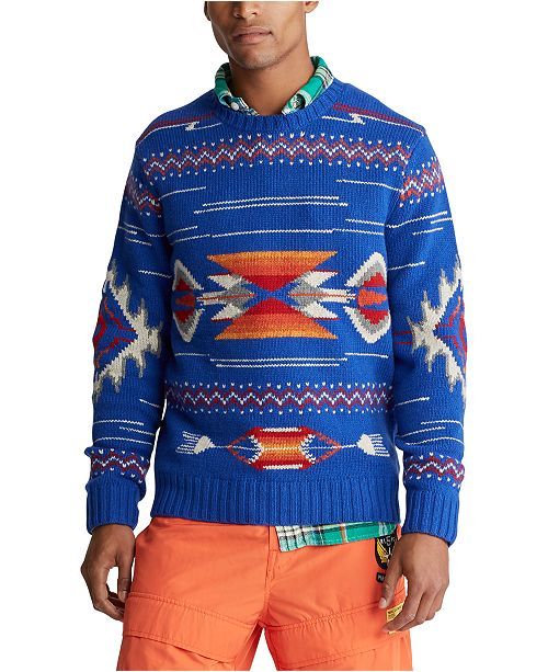 Polo Ralph Lauren Men's Southwestern Wool Sweater