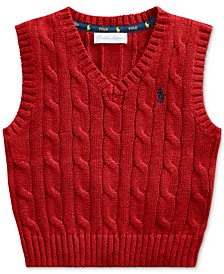 Baby Boys Cable-Knit Cotton Sweater Vest