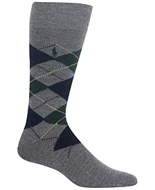 Men's Wool Argyle Boot Sock