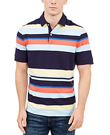Men's Striped Polo Shirt, Created For Macy's
