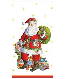 Caspari Santa Claus Lane Paper Guest Towel