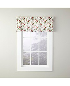 "Cardinals & Berries 13"" Window Valance"