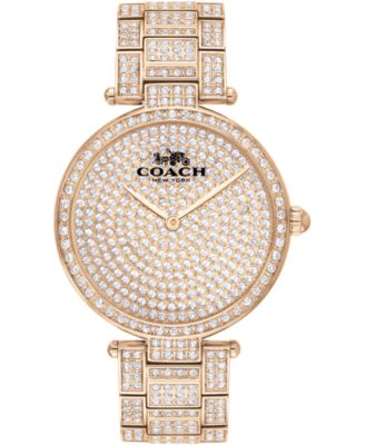 코치 여성 손목 시계 COACH Womens Park Carnation Gold-Tone Bracelet Watch 34mm