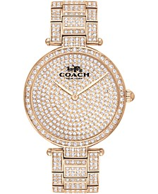 Women's Park Carnation Gold-Tone Bracelet Watch 34mm