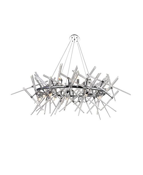 CWI Lighting Icicle 12 Light Chandelier