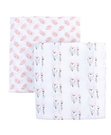Bambini Muslin Cotton Swaddles, 2 Pack