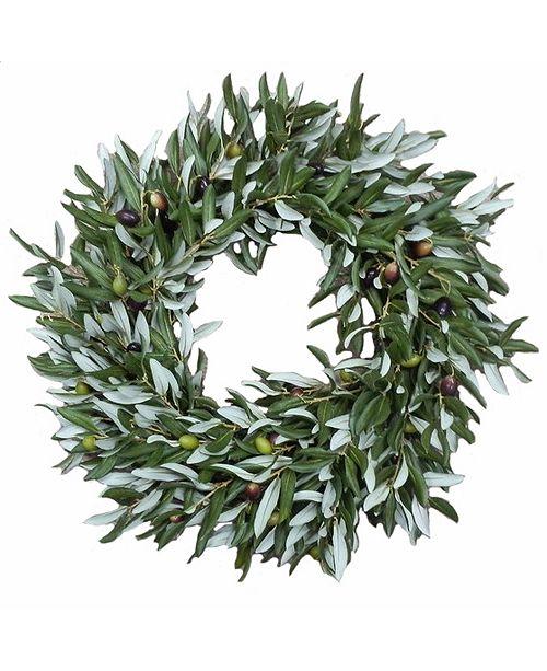 Winward Silks Permanent Botanicals Olive Wreath