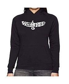 Women's Word Art Hooded Sweatshirt -Wild And Free Eagle