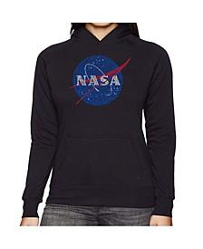 Women's Word Art Hooded Sweatshirt -Nasa's Most Notable Missions