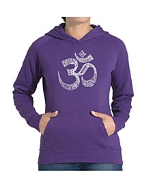 Women's Word Art Hooded Sweatshirt - Poses Om