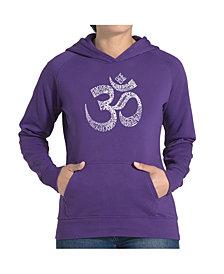 LA Pop Art Women's Word Art Hooded Sweatshirt - Poses Om
