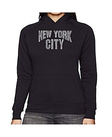 Women's Word Art Hooded Sweatshirt -Nyc Neighborhoods