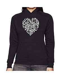 Women's Word Art Hooded Sweatshirt -Love