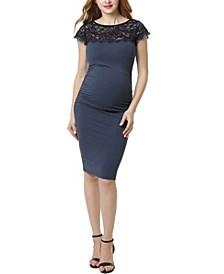 Morgan Maternity Lace Trim Body-Con Dress