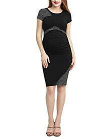 Gabby Maternity Colorblock Midi Dress