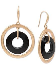 Gold-Tone Orbital Drop Earrings