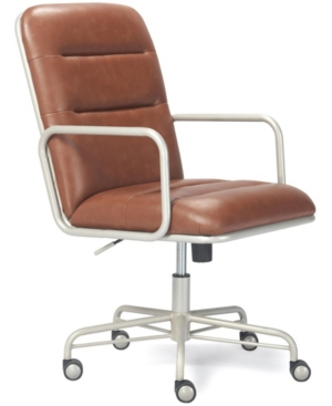 A modern industrial look with rich executive-level faux leather or premium woven fabric on a metal tube frame. Ergonomic cushions and a padded high back provide exceptional support. Adjustable height, recline, smooth rolling casters and 360 spin.