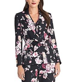 Calli Floral-Print Belted Jacket