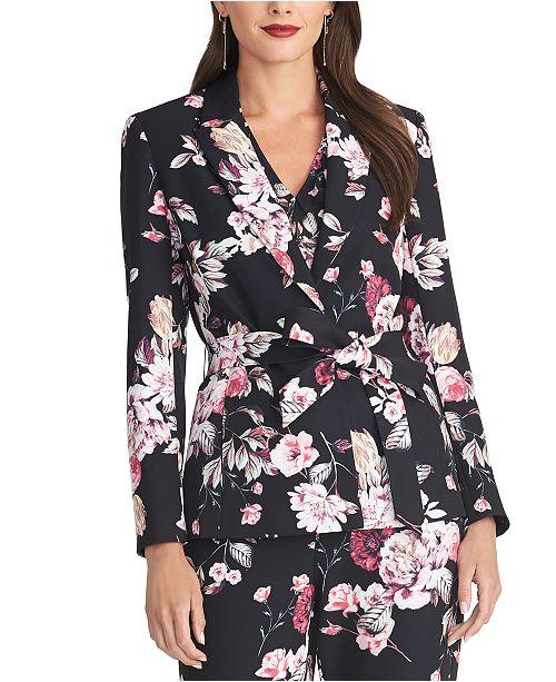 RACHEL Rachel Roy Calli Floral-Print Belted Jacket