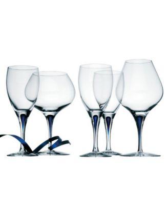 Set of 2 Intermezzo Blue Double Old Fashioned Glasses