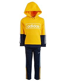 Little Boys Colorblocked Logo Hoodie	& Climalite® Three-Stripe Pants