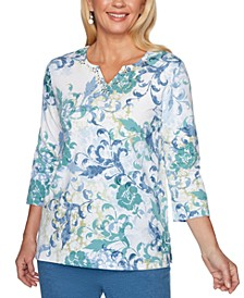Petite All About Ease Floral Print Top