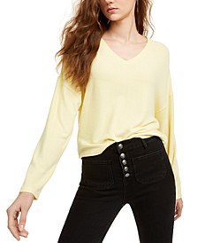 Juniors' Cozy V-Neck Top