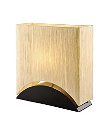 "Sakura 17"" Modern Space-Efficient Premium Shade Table Lamp with Lacquer"