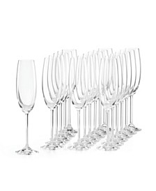 Tuscany Classics Party Flutes, Set of 18