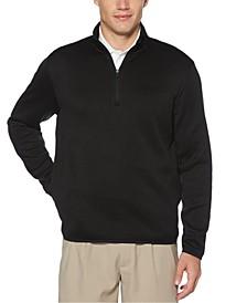 Men's Quarter-Zip Fleece-Lined Golf Sweater