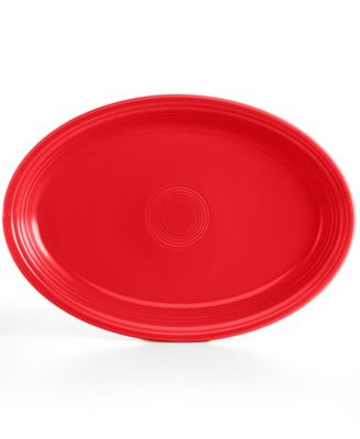 "Scarlet 19"" Oval Serving Platter"