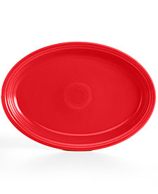 "Fiesta Scarlet 19"" Oval Serving Platter"