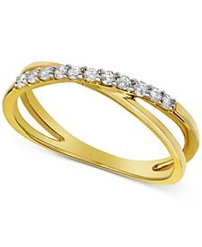Diamond Crisscross Ring (1/5 ct. t.w.)