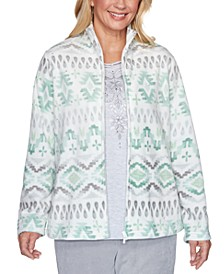 Lake Geneva Printed Fleece Jacket
