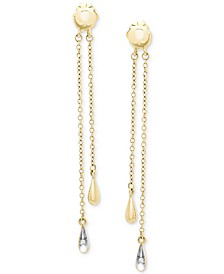 Diamond Accent Drop Earrings in 14k White Gold, Created for Macy's