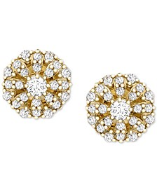 Diamond Cluster Stud Earrings (1/4 ct. t.w.) in 14k Gold, Created for Macy's