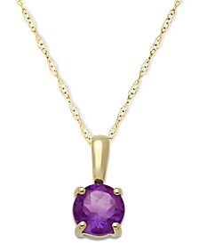 Birthstone Pendant in 14k Gold or 14k White Gold
