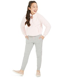 Big Girls Fuzzy 1/4-Zip Jacket & Drawstring Jogger Pants, Created for Macy's