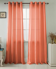 "Nancy 54"" x 63"" Faux Silk Curtain Panel"