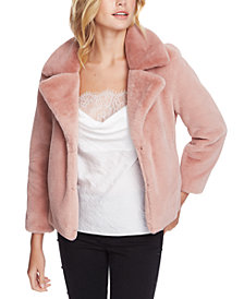 1.STATE Cropped Faux-Fur Jacket