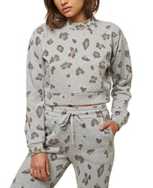 Juniors' Novie Cropped Camo-Print Sweatshirt