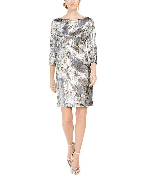Vince Camuto Sequined Bodycon Dress