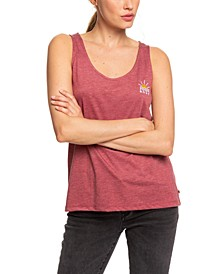 Juniors' Ready Yet B Embroidered Tank Top