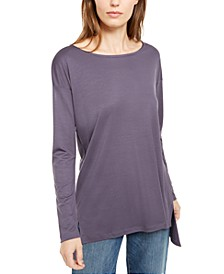 Oversized Boat-Neck Top