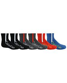 Calvin Klein Big Boys 6-Pk. Quarter Socks
