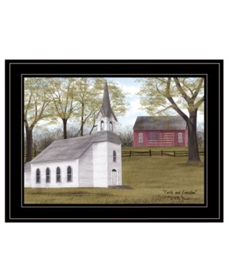 """Faith and Freedom by Billy Jacobs, Ready to hang Framed Print, Black Frame, 19"""" x 15"""""""