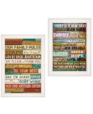 """Today Is 2-Piece Vignette by Marla Rae, White Frame, 15"""" x 21"""""""